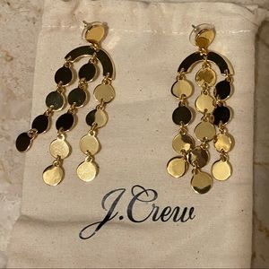 J.Crew Gold Dangle Earrings